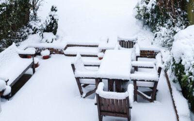 Tid for vinterlagring av hagemøbler og grill
